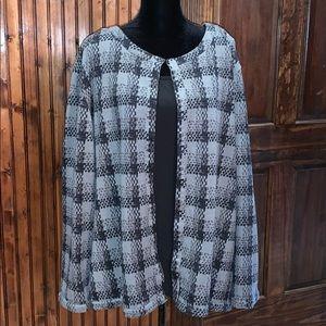 EUC Maggie Barnes 3X cardigan & camisole set